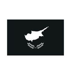 Flag of cyprus monochrome on white background vector