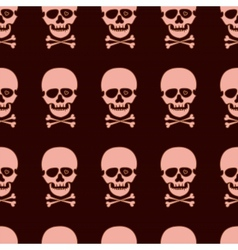 Seamless pattern with rose skull vector