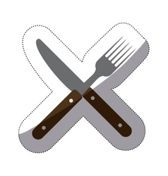 Isolated cutlery design vector