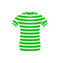 striped t-shirt in green and white design vector image