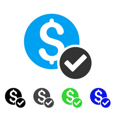 Approved payment flat icon vector