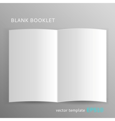 Blank booklet vector