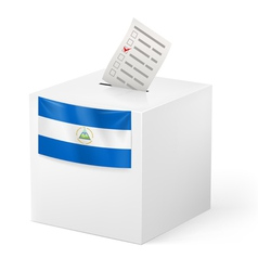 Ballot box with voting paper nicaragua vector