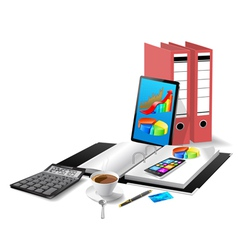 Office workplace3 vector image