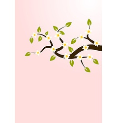 Branches with flowers vector