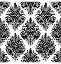 vector seamless damask pattern vector image