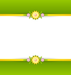Spring floral decoration background vector