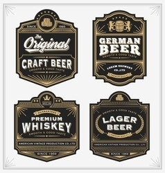 Vintage frame design for labels banner sticker vector