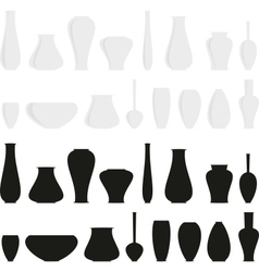 vases vector image