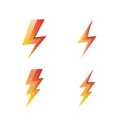 Lightning icons set vector