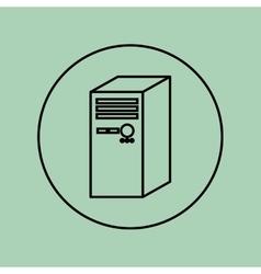Desktop computer design vector