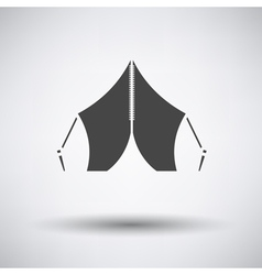 Touristic tent icon vector