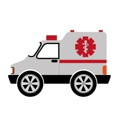 Ambulance car isolated icon design vector