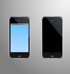 A smart phone with editable screen vector