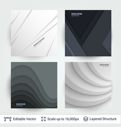 Abstract gray shapes shadow overlap 3d dimension vector