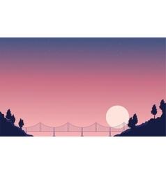 Beauty landscape of bridge nature backgrounds vector