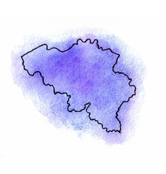 Belgium watercolor map vector