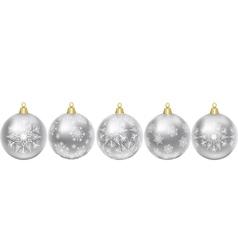 Christmas silver balls vector