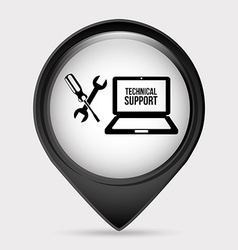 computer support vector image vector image