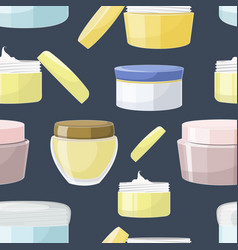 cream jar pattern vector image