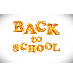 Education of back to school label with flying vector
