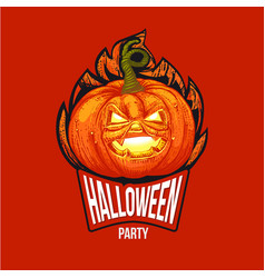 fun halloween hard style logo vector image vector image