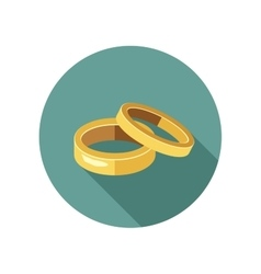 Gold rings vector image
