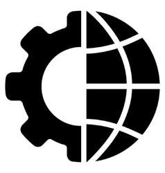International manufacture flat icon vector