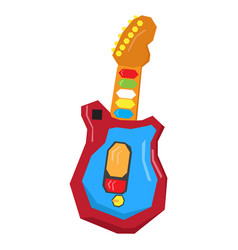 Isolated geometric guitar toy vector