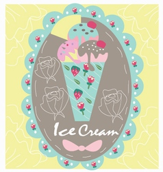 Logo sweet icecream vector