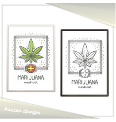 Medical marijuana poster seven vector