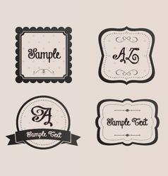 Ornate shabby chic frames ribbons signs vector