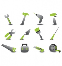 professional repairing tools icons vector image