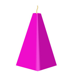 purple conical candle icon cartoon style vector image