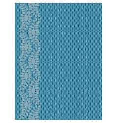 Seamless lacy border vector image