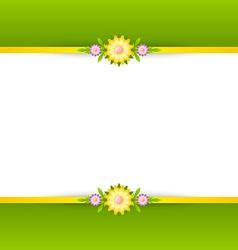 Spring floral decoration background vector