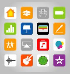 touchscreen smart phone mobile app icon vector image vector image