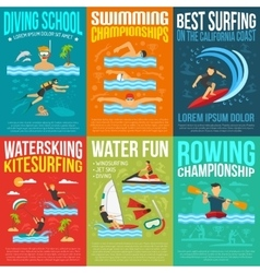 Water Sport Poster Collection vector image