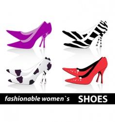 women's shoes vector image