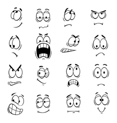 Human cartoon eyes emoticons symbols vector image