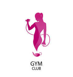 Fitness club color icon vector