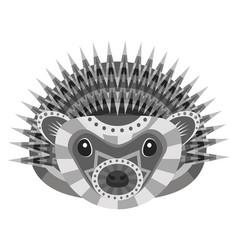 Hedgehog head logo decorative emblem vector