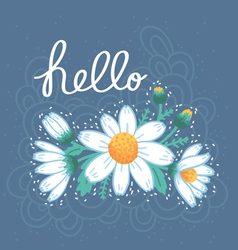 Hello daisies card vector