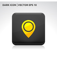 Navigation - pointer icon gold vector