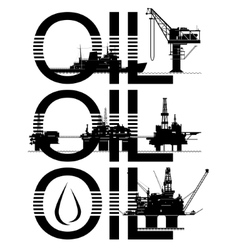 Oil platforms vector