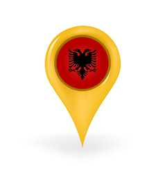Location albania vector