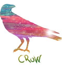 Abstract crow vector