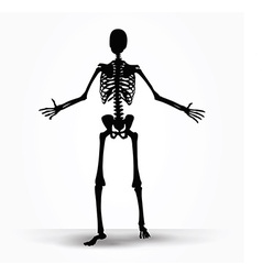 Skeleton silhouette in pleading pose vector