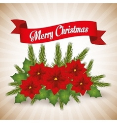 Merry christmas colorful card graphic vector