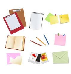 Book and office supplies vector